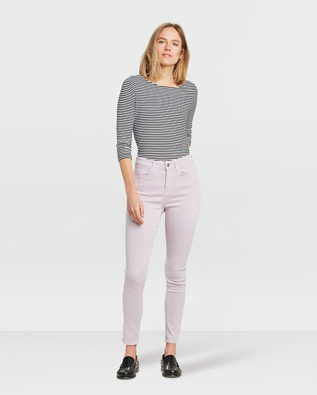 PANTALON HIGH RISE SKINNY CROPPED FEMME Lilas