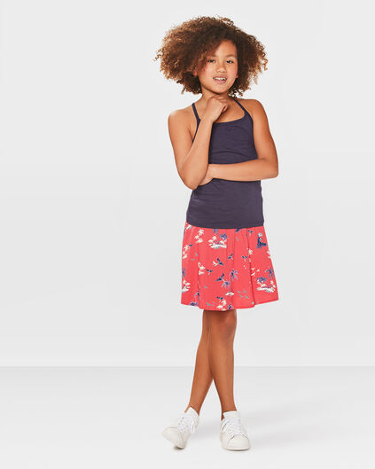 JUPE PALM PRINT FILLE Rouge eclair