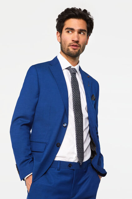Blazer slim fit Johnson homme Bleu