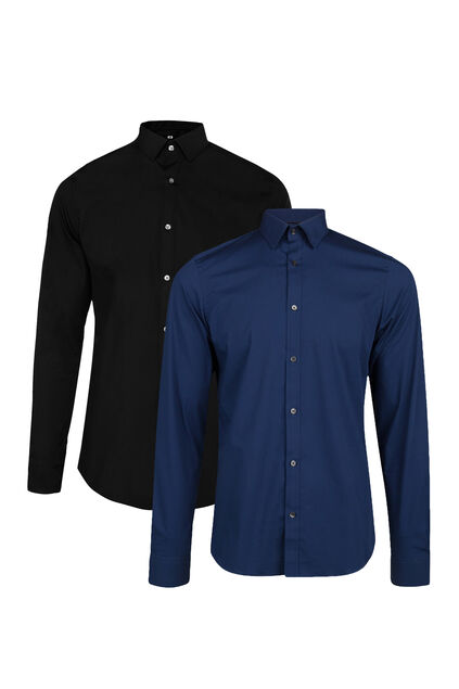 Chemise slim fit stretch homme pack de 2