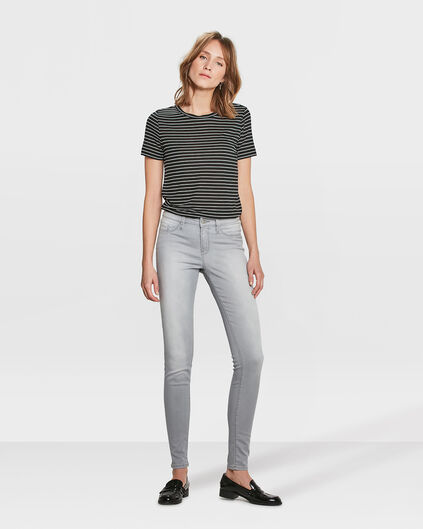 JEGGINGS MID RISE SUPER SKINNY FEMME Gris clair