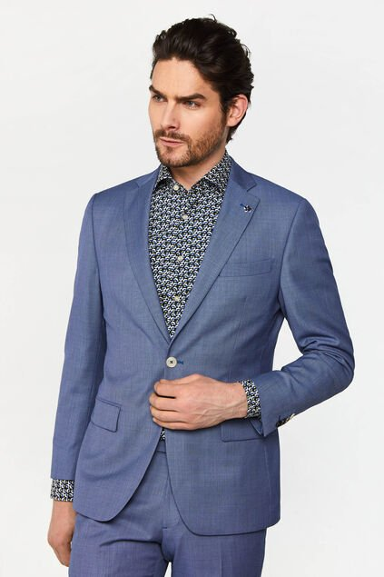 Blazer tailored fit à motif Vinci homme Bleu