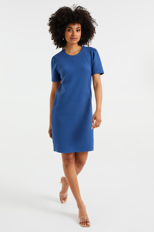 Robe sweat t-shirt à structure femme Bleu