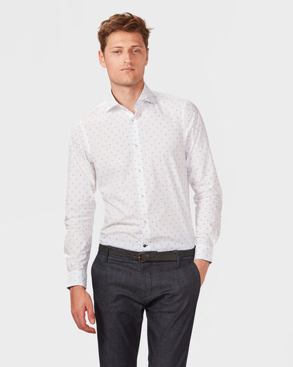 CHEMISE REGULAR FIT FINEST COTTON HOMME Blanc