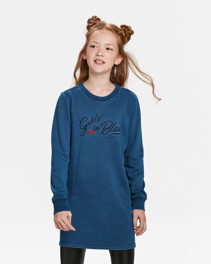 ROBE BLUE RIDGE JOG DENIM SWEAT FILLE Bleu