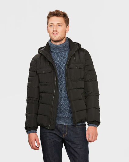 VESTE HOODED PADDED HOMME Noir
