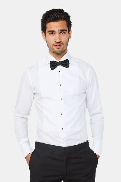 Chemise de smoking slim fit homme Blanc