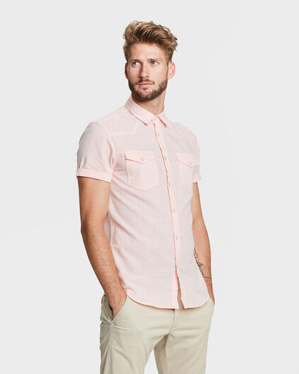 CHEMISE RELAXED FIT HOMME Rose saumon