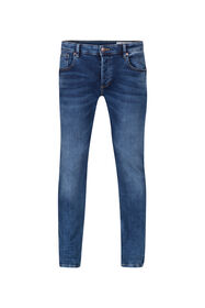 Jeans jog denim slim tapered homme_Jeans jog denim slim tapered homme, Bleu