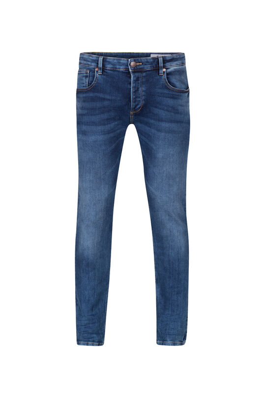 Jeans jog denim slim tapered homme Bleu