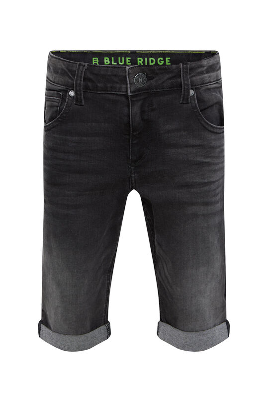 Short denim regular fit garçon Noir
