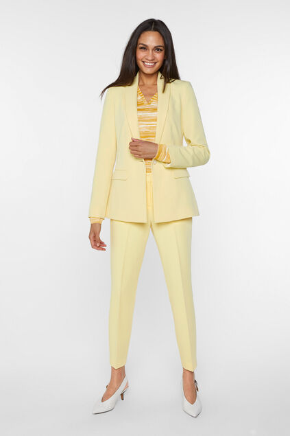 Blazer regular fit femme Jaune clair