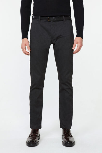 Chino slim tapered à structure homme Noir