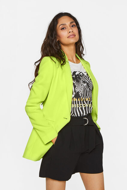 Blazer regular fit structuré femme Vert vif