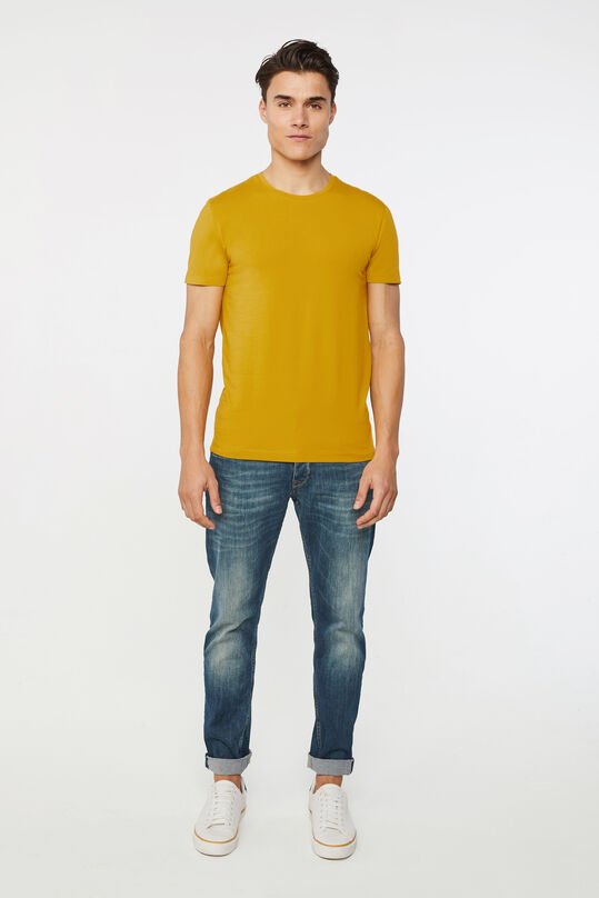 T-shirt homme Jaune moutarde