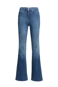 Jeans stretch high raised flared femme_Jeans stretch high raised flared femme, Bleu