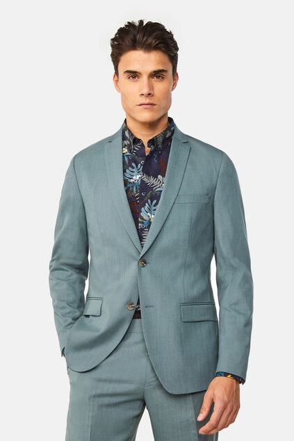 Blazer regular fit stretch Dali homme Bleu glace