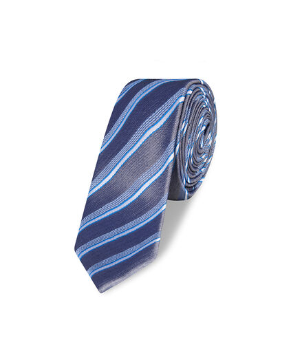 CRAVATE STRIPE DESSIN HOMME Bleu