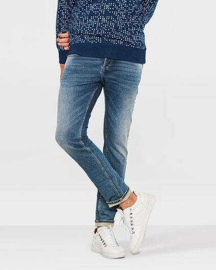 JOG DENIM SLIM TAPERED HOMME Bleu marine