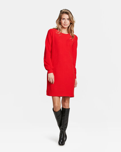ROBE À STRUCTURE FEMME Rouge