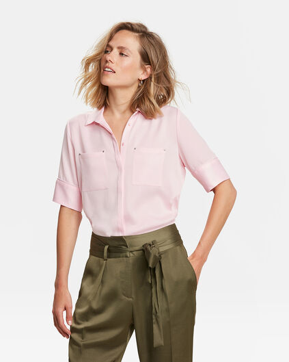 CHEMISIER TWO POCKET FEMME Rose clair