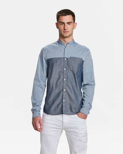 CHEMISE SLIM FIT CHAMBRAY HOMME Bleu gris