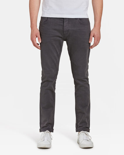 PANTALON SLIM TAPERED HOMME Anthracite