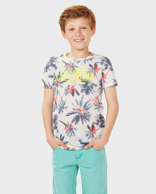 T-SHIRT PALM BEACH GARÇON Blanc