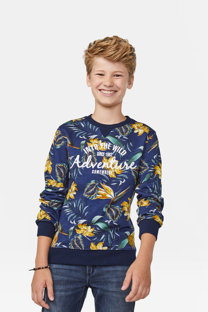 Sweat-shirt adventure garçon Bleu marine