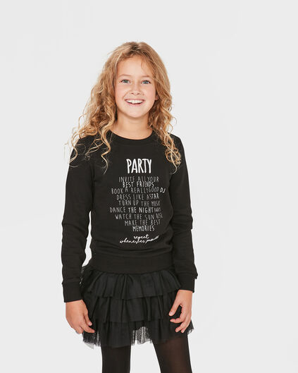 SWEATER PARTY FILLE Noir