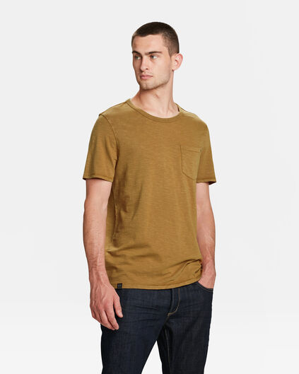 T-SHIRT GARMENT DYED HOMME Beige