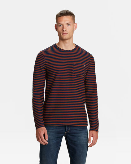 T-SHIRT BLUE RIDGE STRIPE HOMME Brun rouille