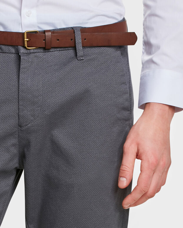 CHINO SKINNY FIT PRINT HOMME Gris