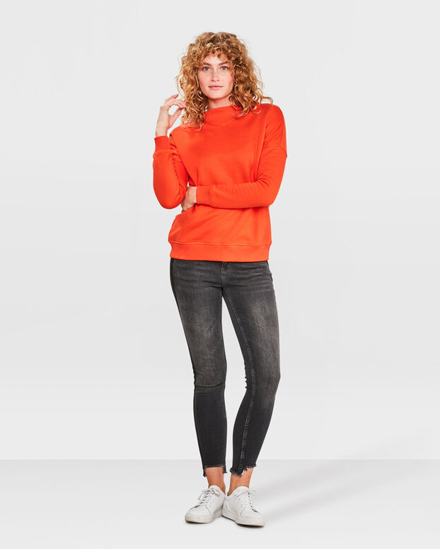 SWEATER V DETAIL FEMME Orange