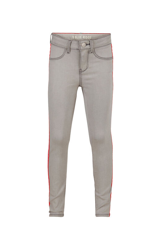 Jeggings super skinny power stretch fille Gris clair