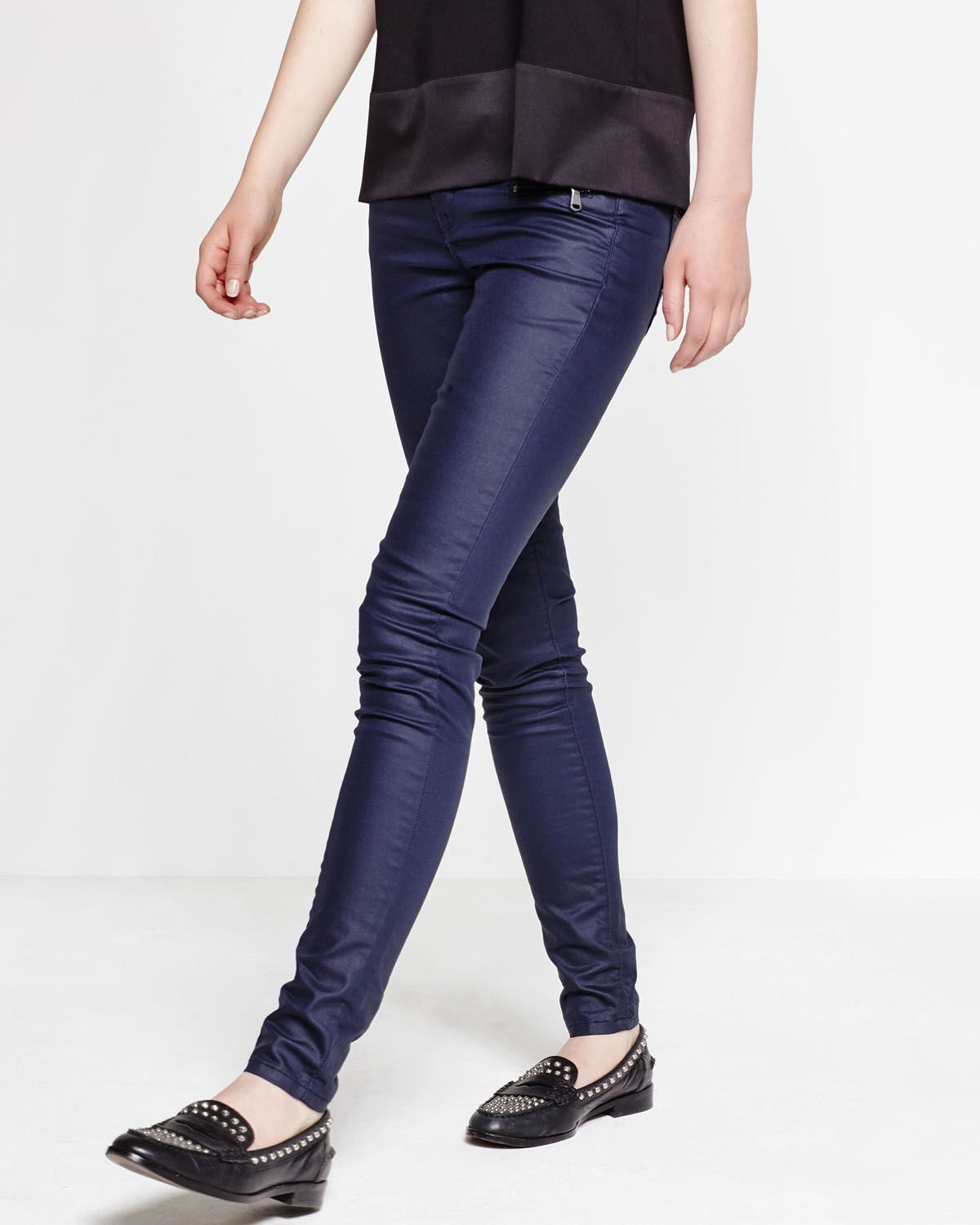 We 78839311 Skinny Enduit Pantalon Super Fashion Femme Iq1TR