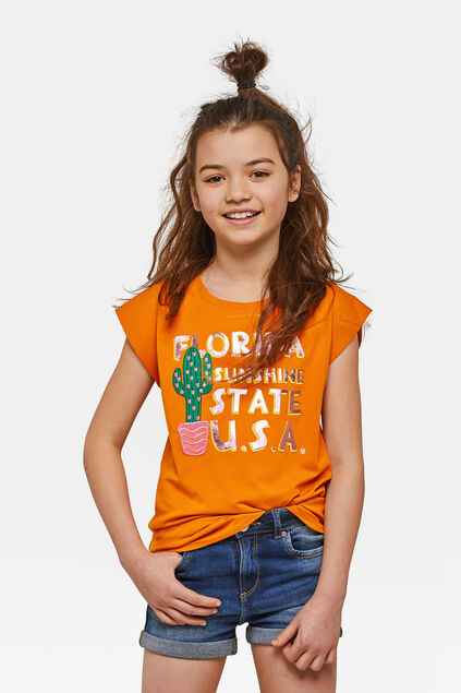 T-shirt à imprimé Florida fille Orange
