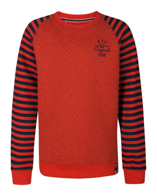 SWEAT-SHIRT MATELASSÉ GARÇON Orange