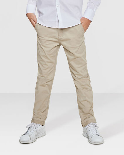 CHINO SLIM FIT GARMENT DYED GARÇON Beige