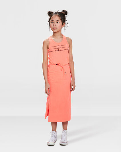 ROBE PRINTED FILLE Rose corail