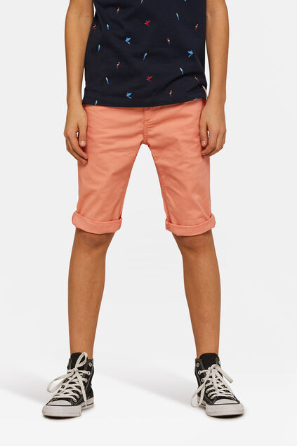 Short slim fit garçon Orange