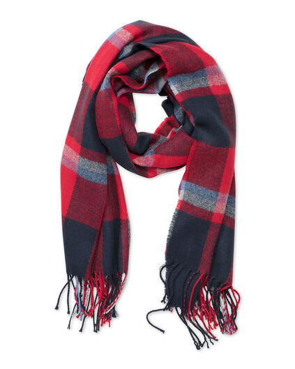 FOULARD CHECKED FEMME Rouge