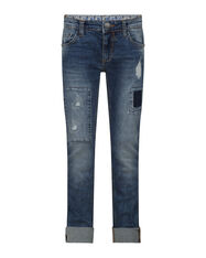 JEANS SKINNY POWER STRETCH GARÇON_JEANS SKINNY POWER STRETCH GARÇON, Bleu