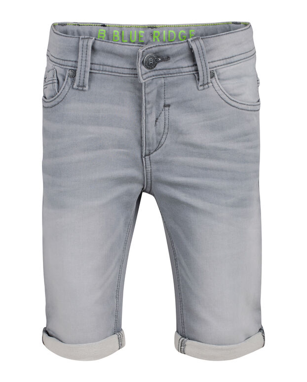 SHORT DENIM SLIM FIT GARÇON Gris