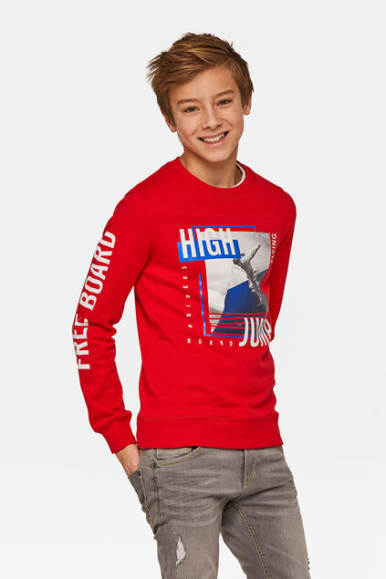 Sweat-shirt high jump garçon Rouge