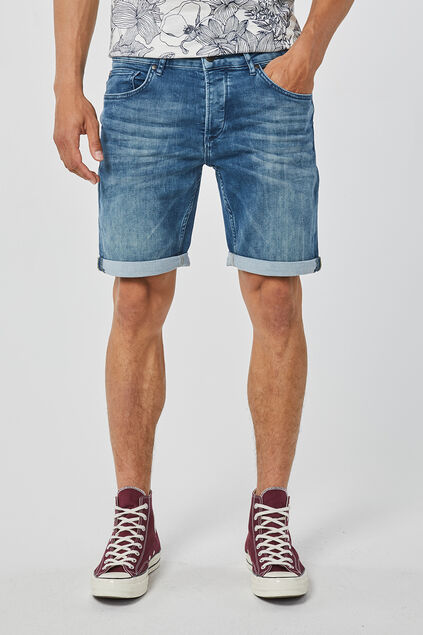 Short jog denim regular fit homme Bleu gris