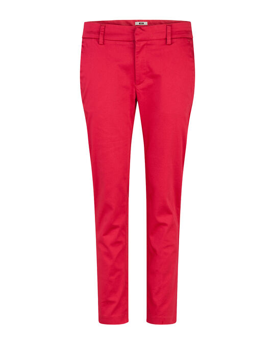 Chino slim cropped femme Rose