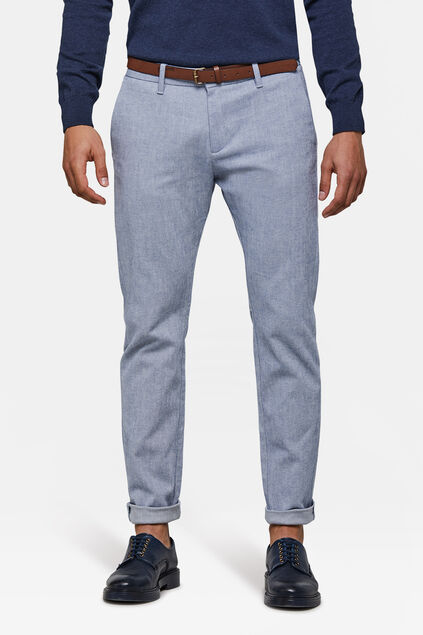 Chino skinny fit homme Bleu eclair
