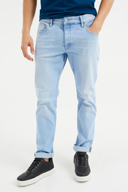 Jeans slim fit super stretch homme Bleu eclair