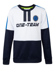Sweat-shirt one-team garçon_Sweat-shirt one-team garçon, Blanc
